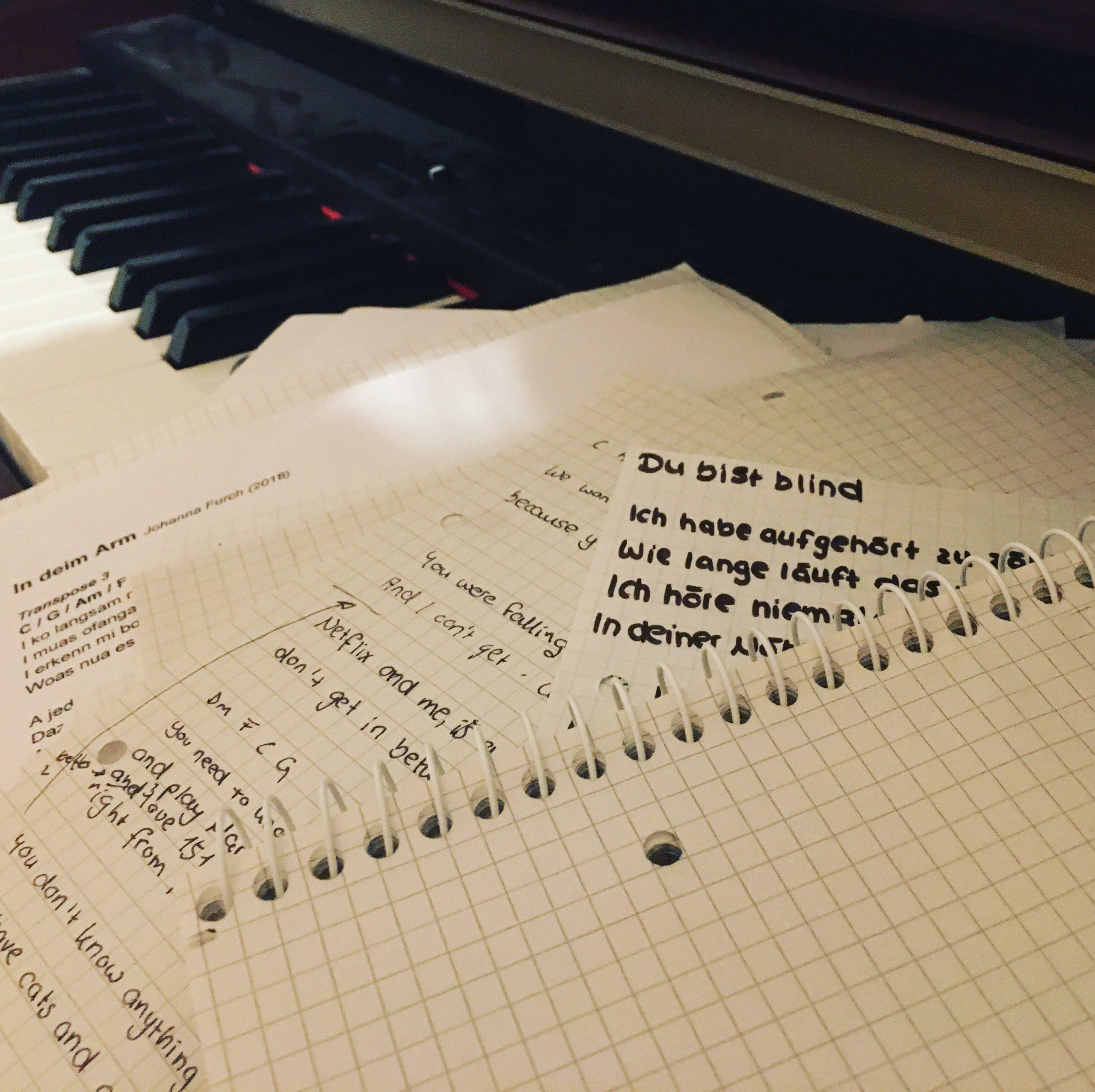 Die Songproduktion läuft